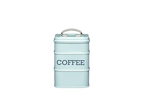 Aufbewahrungsdose für Kaffee, Edelstahl, aus der Living-Nostalgia-Produktreihe, Blau