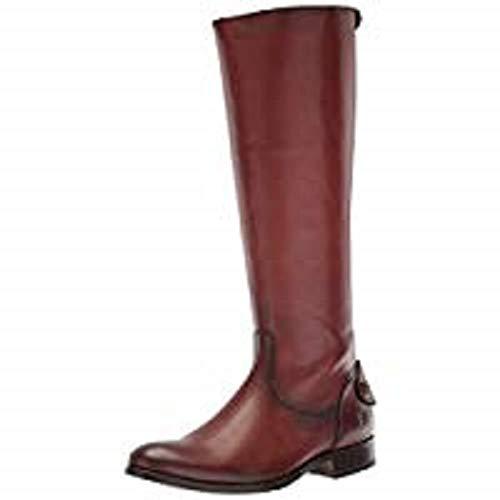 Frye Women's Melissa Button Back Zip Knee High Boot, Cognac Extended, 6 M US