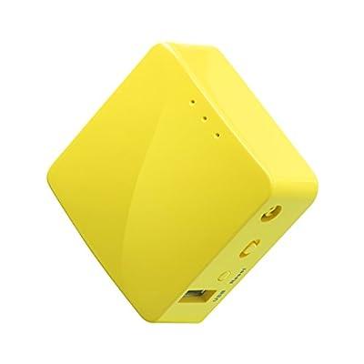 GL.iNET GL-MT300N-V2 Wireless Mini Portable Travel Router, Mobile Hotspot in Pocket, WiFi Repeater Bridge, Range Extender, OpenVPN Client, 300Mbps High Performance, 128MB RAM