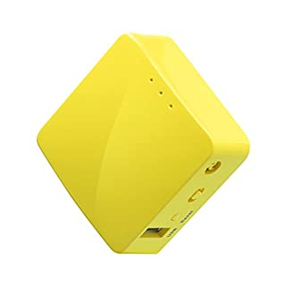 GL.iNET GL-MT300N-V2 (Mango) Wireless Mini Portable VPN Travel Router, Mobile Hotspot in Pocket, WiFi Repeater Bridge, Range Extender, OpenVPN Client, 300Mbps High Performance, 128MB RAM (B073TSK26W) | Amazon price tracker / tracking, Amazon price history charts, Amazon price watches, Amazon price drop alerts