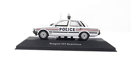 Peugot DieCast Metall Miniaturmodelle Modellauto 1:43 Danielson Polizei Frankreich 1983