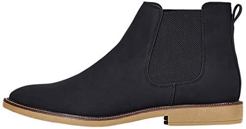 find. Marsh Herren Chelsea Boots Stiefel, Schwarz (Black Nubuck Look), 43 EU