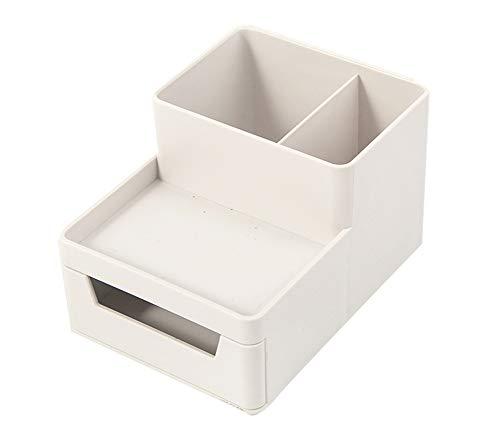 レターケース デスクトレー A4ケース ホワイト ヨコ置き 書類トレー 書類ケース 小物整理収納 引き出しレタートレイ ブックなど収納 プラスチック 積み重ね 頑丈 (白, ペンホルダー1個)