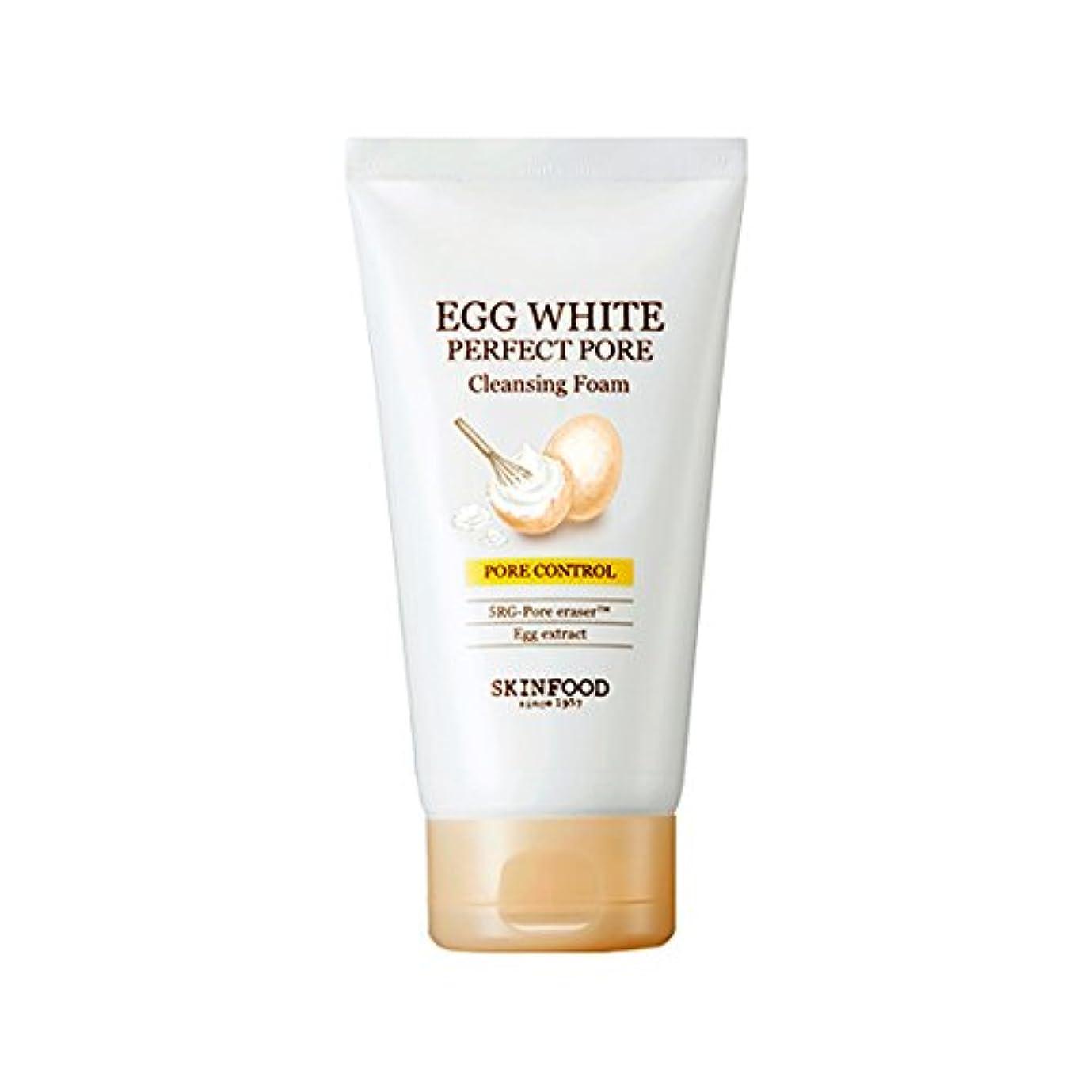 公爵言い直すテレビを見る[2017 New] SKINFOOD Egg White Perfect Pore Cleansing Foam 150ml/スキンフード エッグ ホワイト パーフェクト ポア クレンジング フォーム 150ml [並行輸入品]