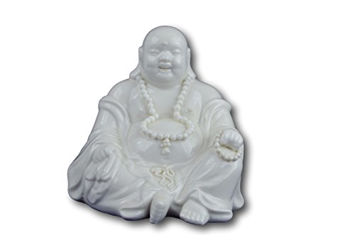 5' Fine White Porcelain Fengshui Happy Laughing Lucky Buddha