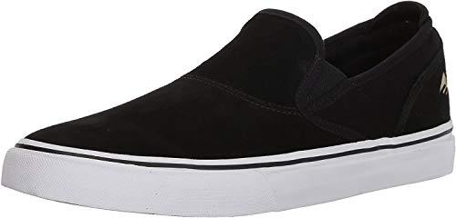 Emerica Men's Wino G6 Slip-ON Skate Shoe, Black/White/Gold, 9 Medium US