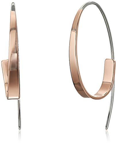Skagen Women's Kariana Two-Tone Curl Earrings, 40 mm