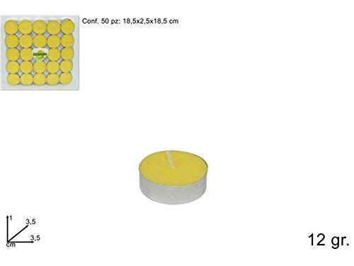 candela CITRONELLA TEALIGHT 50pz MARE GIOCHI SPIAGGIA PISCINA NUOTO #AG17 8034048292235