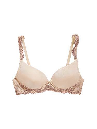 The Little Bra Company Women's Yvonne Lace Detail T-Shirt Bra Nude/Mocha 28C