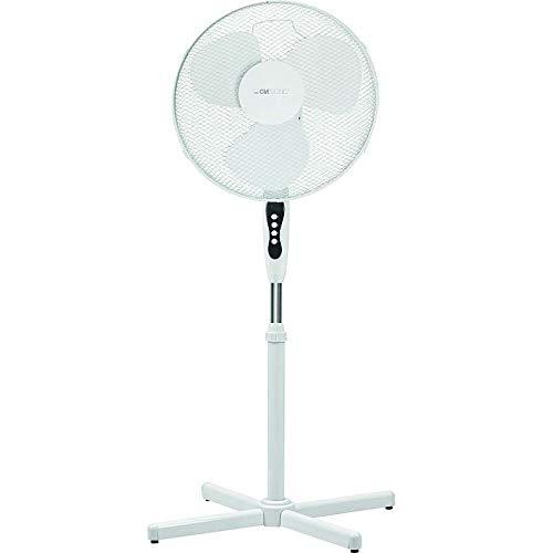 Standventilator Höhenverstellbar Ventilator 40 cm Standlüfter Weiß (Oszillierung, 4 Stufen, 45 Watt, Windmaschine, Leise, Höhe 125 cm)