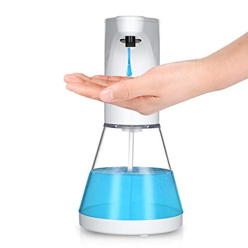 Decdeal 1Dispenser di Sapone Automatico 480ml,Touchless Liquid Shampoo Doccia Lozione Gel Doccia Dispenser Automatico Sensore di Movimento a Infrarossi per Bagno Hotel