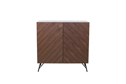 Amazon Marke - Rivet Sideboard, 100 x 40 x 99cm, Nussbaum/Grau