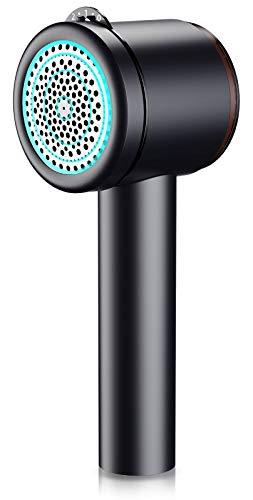 Cocoda Quitapelusas Electrico, Removedor de Pelusa USB Recargable con un Botón de Limpieza y Orificios de Malla de Panal de 4 Tamaños, Profundidad de 5 Engranajes, para Todo Tipo de Prendas