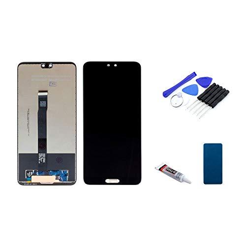 kaputt.de Display schwarz (5,8 Zoll) für Huawei P20 | LTPS IPS LCD Bildschirm inkl. DIY Reparatur-Set