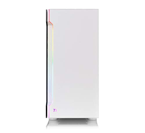ThermaltakeH200TGRGBSnowEditionミドルタワー型PCケース強化ガラスフロントLEDバー搭載CA-1M3-00M6WN-00CS7633