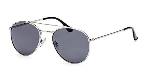 Filtral Kleine Pilotenbrille/Klassische Sonnenbrille für Damen & Herren/Speziell für schmalere Gesichter/Dunkelgrau F3021199