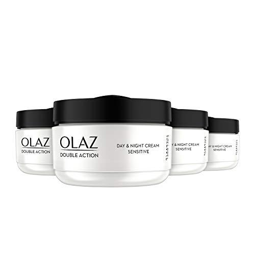 Olaz Double Action Tages- und Nachtcreme für empfindliche Haut, 4er pack (4 x 50 ml)
