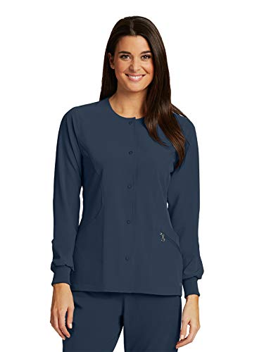 BARCO One 5409 Women's 4 Pocket Perforated Princess Warm-Up Jacket Steel M