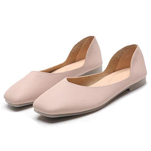 Lady Mary Jane Schoenen - Flats - Yoga Dansschoenen - Ballet Flats - Zachte Leren Schoenen - Vierkante Schoenen