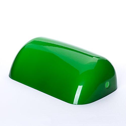 ERSATZGLAS GRÜN BANKERSLAMPE Bankers Lamp Leuchte Ersatzschirm Tisch Glasschirm Glas