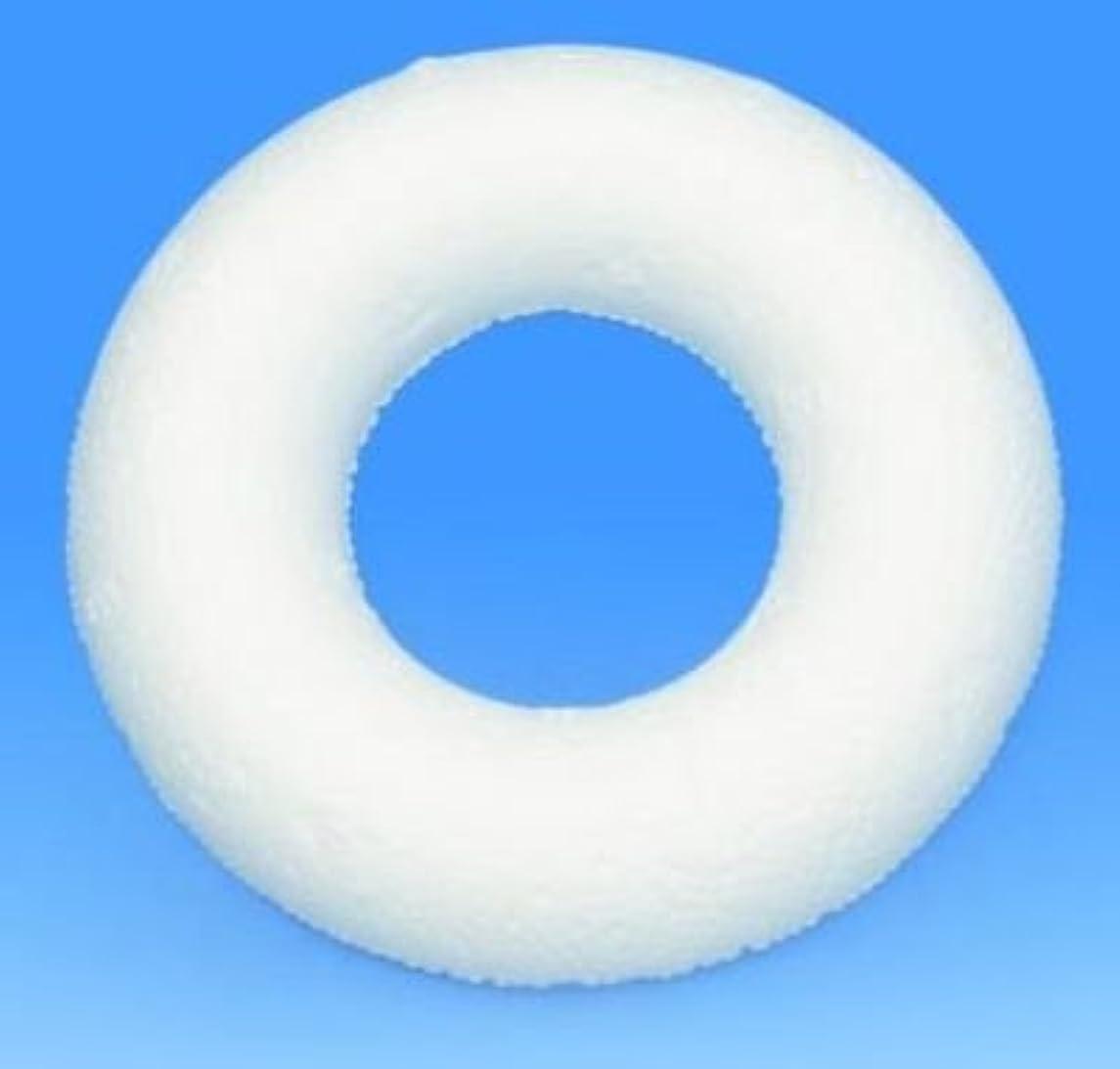 Glorex Polystyrene Styrofoam Half Ring, White, 7.5?x 7.5?x 1?cm 3?Units