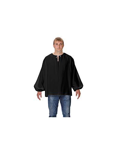 DISBACANAL Camisas Medievales de mesonero - Negro, Adulto