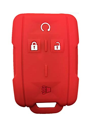 Rpkey Silicone Keyless Entry Remote Control Key Fob Cover Case protector Replacement Fit For Chevrolet Silverado 1500 2500 HD 3500 HD Colorado Tahoe Suburban Gmc Yukon Sierra 1500 Canyon M3N-32337100