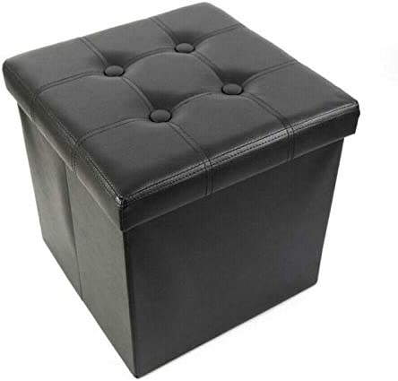 Faux Ranking TOP4 Leather Storage Ottoman Mesa Mall Square Footstool Folding Footrest B