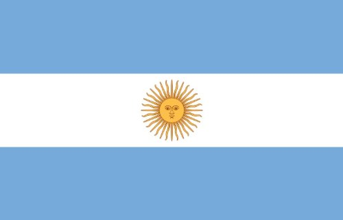 Flaggenking Argentinien Flagge/Fahne, mehrfarbig, 150 x 90 x 1 cm, 17001