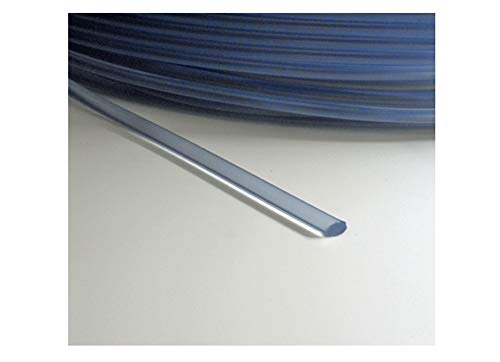 Rundkeder PVC 5 mm Keder rund Meterware transparent stabiler - flexibler Kederschnur 10 Meter