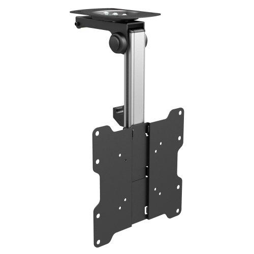 PureMounts PM-SLOPE-37 Premium Deckenhalterung für Fernseher, optimal für Dachschrägen, neigbar max. 105°,  höhenverstellbar, Traglast: max. 20kg, VESA bis 200x200, universell
