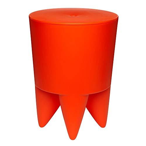 XO Design Bubu Ier Hocker, orange Delhi durchgefärbt H 43cm Ø 32,5cm