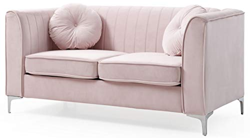 Glory Furniture Delray Loveseat, Pink. Living Room Furniture, 2 Seater