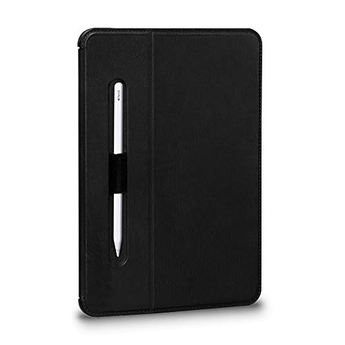 Sena Future Folio Genuine Leather Case for 12.9-Inch iPad Pro (2018) - Hands-free Viewing with Apple Pencil and Pencil Holder, Black (SHD306NPUS-50)