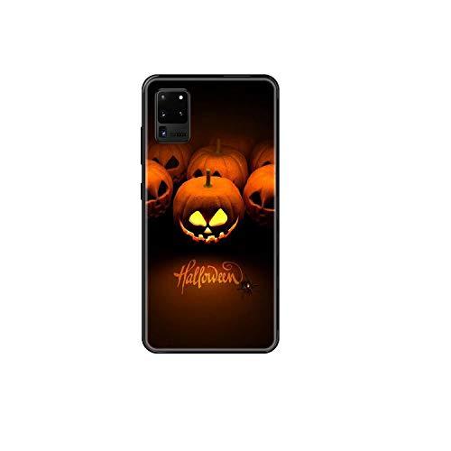 Halloween Calabaza teléfono caso para Samsung Galaxy S 3 4 5 6 7 8 9 10 E Plus Lite borde negro pintura impermeable silicona prime-2-Galaxy S9 Plus