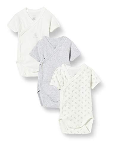Petit Bateau 5650200 Conjunto de Ropa Interior para bebés y niños pequeños, Gris Blanco/Multico Blanco, 12 Meses