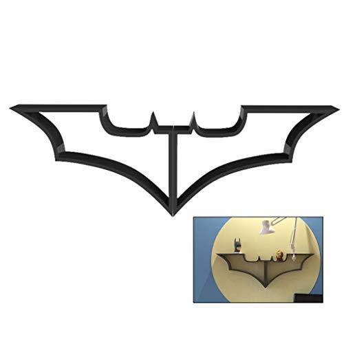 Armoires Étagère De Rangement pour Chambre D'Enfant Étagère Murale Batman Étagère Salon Chambre Tenture Murale Décoration Étagère De Rangement Étagère Créative (Color : Black, Size : 122 * 47cm)