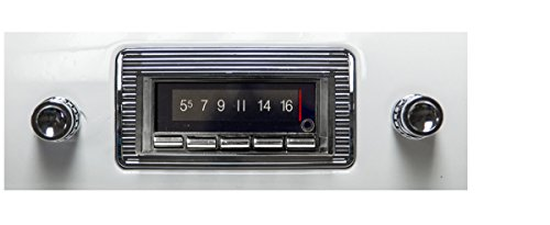 Custom Autosound Bluetooth Stereo compatible with 1947-1953 Chevrolet Truck, 300 watt AM FM Car Stereo/Radio with built-in Bluetooth, AUX Inputs, Color Change LCD Digital, only unmodified OEM dash