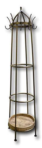 Nexos Trading - Perchero de pie (metal, 185 cm, con 16 ganchos), diseño vintage