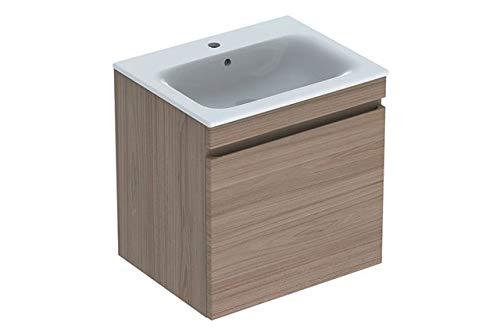 Keramag Geberit Renova Plan Waschtischunterschrank für Waschtisch, schmaler Rand mit 1 Schublade, 58,8x58,5x47,3cm, Ulme, 869562000