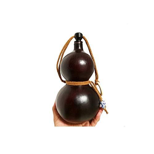 CHUJIAN Correa de hombro de cuero al aire libre, acero inoxidable 304, forma de calabaza, 100% a prueba de fugas, apto para brandy, whisky, etc. (500 ml, 1500 ml), plata (tamaño: C)