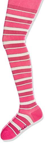FALKE Unisex Kinder Mixed Stripe K Ti Strumpfhosen, Rosa (Gloss 8550), 152-164