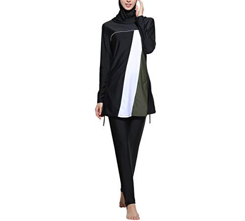 ziyimaoyi Conservative muslimische Bademode islamische Badeanzug für Frauen Hijab Bademode volle Abdeckung Bademode muslimische Schwimmen Strandmode Badeanzug, Damen, Schwarz , S