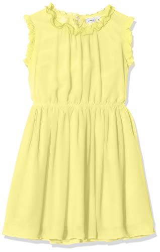 NAME IT Mädchen NKFVILUSI CAPSL Dress H Kinder Sommerkleid Kinderkleid, Limelight, 140