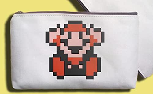 Estuche para lápices Super Mary Bolsa para teléfono móvil, estuche para lápices, monedero, bolsa de cosméticos para teléfono móvil, bolsa de almacenamiento para siempre Super Mario Super Mario Bros.
