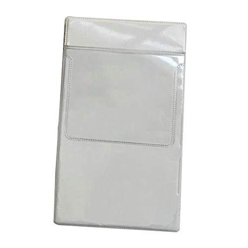 Portalápices, 1 unids transparente transparente plástico lápiz camisa bolsillo bolso bolso lápiz bolsa protectores paquete para médico enfermera (Color : Transparent)