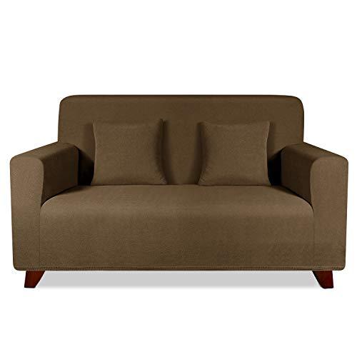 TAOCOCO Funda de sofá con Forma de Diamante/Funda de sofá Antideslizante/Funda de sofá elástica/Lavable/antiácaros/Antiarrugas (Marrón, 120_x_190_cm)