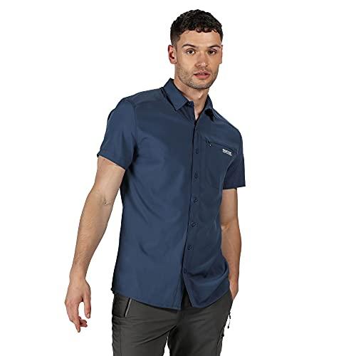 Regatta Chemise KIOGA II légère et Respirante avec aération au Dos et Poche Poitrine Shirts Homme, Dark Denim, FR : 3XL (Taille Fabricant : XXXL)