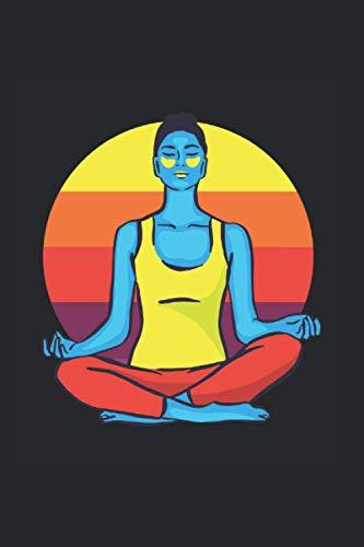 Yoga de colores: Din A5 Cuaderno de Yoga Meditación de regalo con 120 páginas