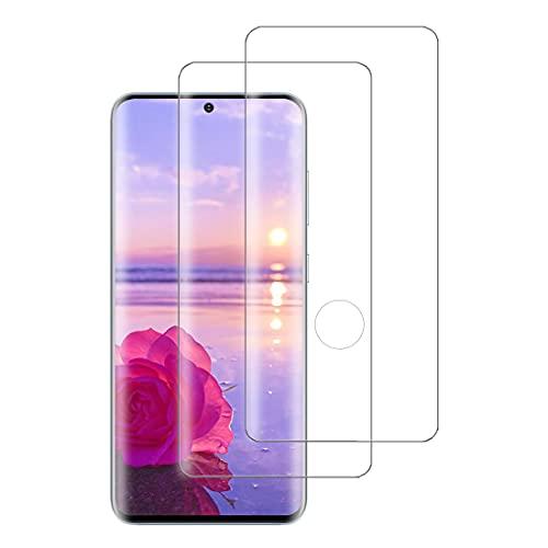 XSWO 2 Pezzi Vetro Temperato Compatibile con Samsung Galaxy S21 Ultra (5G 6.8'), Pellicola Protettiva Vetro [3D Copertura Completa] [Anti-Graffi] [Senza Bolle] Protezione Schermo Galaxy S20 Ultra